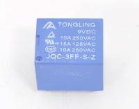 JQC-3FF-S-Z Катушка 9V, одна группа, 10А 19,0х15,8х15,5 Реле