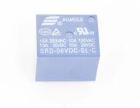 SRD-06VDC-SL-C Катушка 6V, одна группа, 10А 19,0х15,8х15,5 Реле