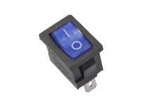 Переключатель MIRS-101 On-Off 250V 6A синий 36-2151 (3c)