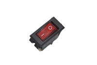 Переключатель KCD3-2 On-Off 250V 15A красный 36-2225 (3c)