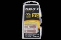 Duracell  ZA312/6BL 1.4V 170mAh (для слуховых аппаратов) батарейка