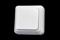 321110 Выключатель Прогресс о/у 1-кл. б/п белый