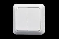 321120 Выключатель Прогресс о/у 2-кл. б/п белый