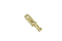 """Клемма плоская """"шт"""" 6.3mm gold DJ611-6.3B 08-0913"""