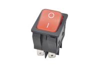 Переключатель IRS-202-8C On-On красный 250V 15A (6c)
