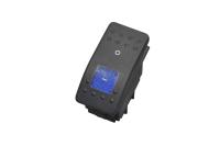 Переключатель клавишный On-Off синий 12V 35A (4c) 36-4461