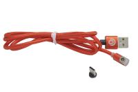 Кабель Dream U50 USB-Type-C  2.4A, магнитный, красный 1м