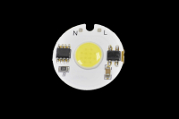 Светодиод мощный  3W - белый 220V NW COB D=27mm (на плате с драйвером) SIM