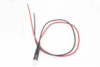 Светодиод  3мм с проводами 20см - красный (12V 20mA 4000-5000mcd 120*)