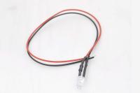 Светодиод  5мм с проводами 20см - красный (12V 20mA 4000-5000mcd 120*)