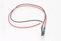 Светодиод  3мм с проводами 20см - зеленый (12V 20mA 12000-14000mcd 120*)