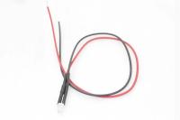 Светодиод  3мм с проводами 20см - синий (12V 20mA 5000-6000mcd 120*)