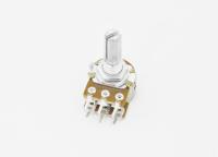 Резистор переменный 6pin(3+3) B500K d=16mm L=20mm стерео (с рифлением + шлиц)