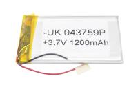 00-00016898 Аккумулятор 3.7V 1200mAh 4.0x37x59mm универсальный с проводками