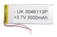 00-00020322 Аккумулятор 3.7V 3000mAh 3.0x46x113mm универсальный с проводками