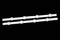 """Линейка светодиодов к LED TV 805X15mm 4+4шт DRT 3.0 39""""_A type Rev00_130820 (A+B)"""