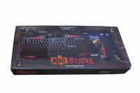 21396 Игровой набор Axe Strike (клавиатура+мышь+коврик)