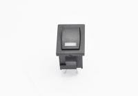 Переключатель MIRS-101-3 (XL601-101-M) On-Off 250V 6A черный + LED красный 1.8V