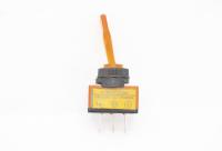 Тумблер On-Off 3-pin 20A 12V однополюсной с желтой подсветкой 36-4372