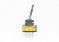 Тумблер On-Off 3-pin 20A 12V однополюсной с зеленой подсветкой 36-4373