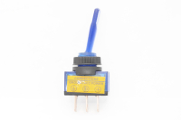 Тумблер On-Off 3-pin 20A 12V однополюсной с синей подсветкой 36-4371