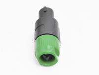 "Разъем Speacon ""шт"" пластик на кабель зеленый (68mm) 1-580GR"