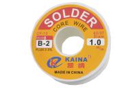 Припой 100 грамм 1.0 мм флюс (63%Sn,37%Pb) CF10 Kaina B-2