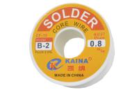 Припой 100 грамм 0.8 мм флюс (63%Sn,37%Pb) CF10 Kaina B-2