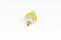 """Разъем RCA """"гн"""" металл на корпус желтый с изолятором 1-291 YE"""