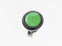 Кнопка GMSI-7B-C no(nc)+nc(no 250V 5A D=24.5mm зеленая (LED подсветка - 12V)