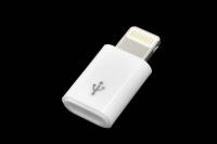"20333 Переходник Walker iP ""шт""-micro USB ""гн"" №2 , пластиковый"