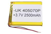 00-00016003 Аккумулятор 3.7V 2500mAh 4.0x50x70mm универсальный с проводками