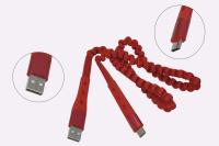 Кабель USB A - Type C, 1.2м Hoco U78 красный