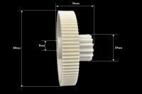 Шестерня Panasonic/Polaris/Elenberg/Supra, Д-80/28мм, зубья 78/14шт. (прямой/прямой)