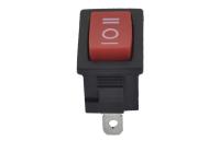 Переключатель KCD1-103-2 250V 6A On-Off-On красный