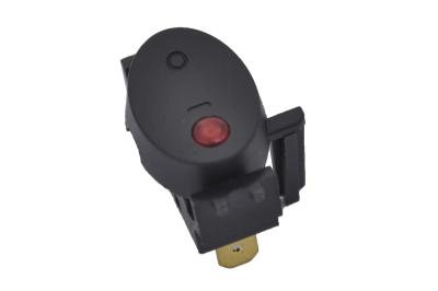 Переключатель KCD3-101EN-17 On-Off 250V 10A черный с подсветкой (3c)