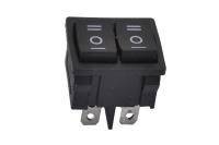 Переключатель MRS-2103 On-Off-On + On-Off-On черный 250V 6A (3c+3c) (двойной)