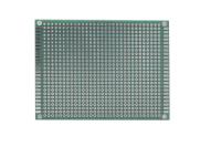 Плата макетная двусторонняя,  80х120х1,6мм. шаг-2,54мм