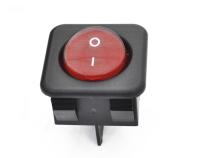 Переключатель RK1-05 On-Off красный 250V 16A (4c)