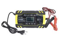 Зарядное устройство для аккумулятора FOXSUR FBS-122408D 12V-8A/24V-4A с крокодилами