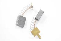 581 Электроугольная щетка 6х11х13,5 поводок, пружина, квадратный пятак для Интерскол ДУ-16/1000ЭР