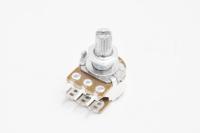 Резистор переменный 6pin(3+3) A50K d=16mm L=15mm стерео (с рифлением + шлиц)
