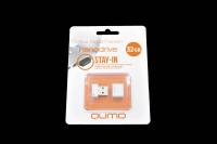 18330 Флэш Qumo 32Gb USB 2.0 Nano (белый)