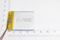 00-00015994 Аккумулятор 3.7V 700mAh 4.0x35x40mm универсальный с проводками