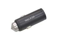 14985 Автомобильное зарядное устройство Walker WCR-23 1USB, 2.4А, быстрый заряд QC 2.0, черное