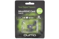 21617 Карта памяти Qumo MicroSDHC 32Gb Class10 без адаптера