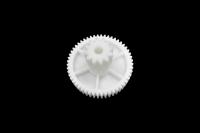 MS014 Шестерня Moulinex белая средняя (D=65/25,5 mm, H=42/17 mm) 12 зубьев, 52 зубца