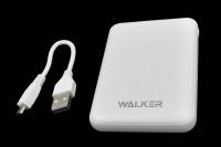 20224 Портативное зарядное устройство Walker WB-305 5000mA-ч, 2USB 2.1A, белое