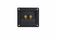 Терминал аудио квадратный металл gold 1-723G