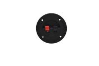 Прищепка аудио двойная круглая D=75mm 1-716